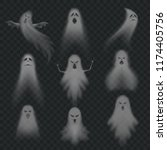 realistic ghost. scary... | Shutterstock .eps vector #1174405756