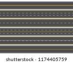 highway road marking.... | Shutterstock .eps vector #1174405759