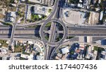 aerial drone photo of urban... | Shutterstock . vector #1174407436
