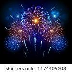 vector holiday festival blue...   Shutterstock .eps vector #1174409203
