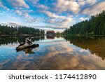 mummelsee at dawn  black forest ... | Shutterstock . vector #1174412890