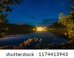 mummelsee at night  black... | Shutterstock . vector #1174413943