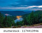 mummelsee at night  black... | Shutterstock . vector #1174413946