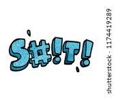 cartoon doodle swear word   Shutterstock .eps vector #1174419289