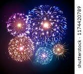 vector holiday festival...   Shutterstock .eps vector #1174420789