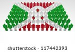 parade of 3d people forming a... | Shutterstock . vector #117442393