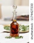 peppermint booze self made... | Shutterstock . vector #1174427233