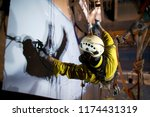 close up picture of rope access ... | Shutterstock . vector #1174431319