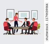 business people having board... | Shutterstock .eps vector #1174434466