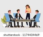 business people having board... | Shutterstock .eps vector #1174434469