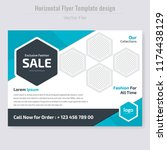 modern fashion sales off flyer... | Shutterstock .eps vector #1174438129