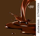 liquid chocolate  caramel or... | Shutterstock .eps vector #1174441066