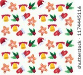 seamless patterns with... | Shutterstock . vector #1174445116