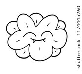 line drawing cartoon flower... | Shutterstock .eps vector #1174445260