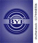 bye emblem with denim texture | Shutterstock .eps vector #1174448506