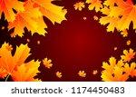 autumn sale banner design with... | Shutterstock .eps vector #1174450483