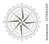 vector icon with compass rose... | Shutterstock .eps vector #1174451329