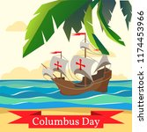 happy columbus day. national... | Shutterstock .eps vector #1174453966