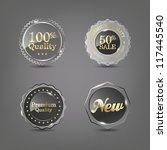 set of vector glass labels  eps ...   Shutterstock .eps vector #117445540