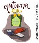 colorful seasonal  cozy... | Shutterstock .eps vector #1174455403