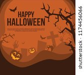 happy halloween illustration... | Shutterstock .eps vector #1174456066