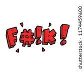 cartoon doodle swear word   Shutterstock .eps vector #1174459600