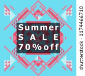 summer sale colorful style... | Shutterstock .eps vector #1174466710