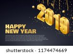 new year 2019 background place... | Shutterstock .eps vector #1174474669