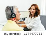 senior man at medical...   Shutterstock . vector #1174477783