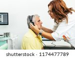 senior man at medical... | Shutterstock . vector #1174477789