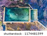 overhead aerial view down to... | Shutterstock . vector #1174481599