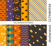 halloween pattern background | Shutterstock .eps vector #1174484536