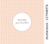 pink vintage card  plaid design   Shutterstock .eps vector #117448576
