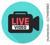 vector news stream icon video... | Shutterstock .eps vector #1174485883