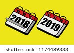 happy new year 2019 and say... | Shutterstock .eps vector #1174489333
