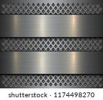 metal background  steel brushed ... | Shutterstock .eps vector #1174498270