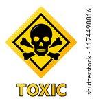 toxic safety hazard danger... | Shutterstock .eps vector #1174498816