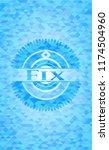 fix light blue emblem with... | Shutterstock .eps vector #1174504960
