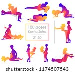 set 10 kama sutra positions.... | Shutterstock .eps vector #1174507543