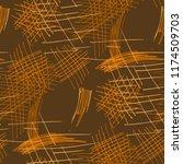 various pen hatches. seamless... | Shutterstock .eps vector #1174509703