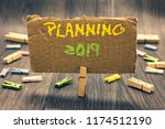 writing note showing planning... | Shutterstock . vector #1174512190