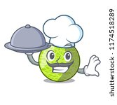 chef with food cartoon melon... | Shutterstock .eps vector #1174518289