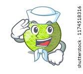 sailor fresh melon isolated on... | Shutterstock .eps vector #1174518316