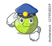 police fresh melon isolated on... | Shutterstock .eps vector #1174518319