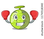 boxing fresh melon isolated on... | Shutterstock .eps vector #1174518340