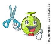 barber fresh melon isolated on... | Shutterstock .eps vector #1174518373