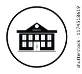 school building icon. thin... | Shutterstock .eps vector #1174518619