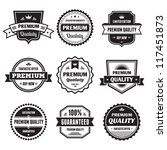 badges collection 01   vector... | Shutterstock .eps vector #117451873