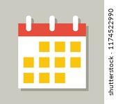calendar icon  flat design... | Shutterstock .eps vector #1174522990