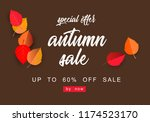 autumn sale background template.... | Shutterstock .eps vector #1174523170